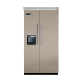 "Taupe 42"" Side-by-Side Refrigerator/Freezer with Dispenser - VISB (Integrated Installation)"