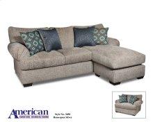 Homespun Silver Chaise Sofa