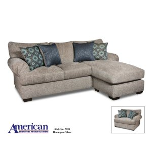American Furniture Manufacturing 3050 - Homespun Silver