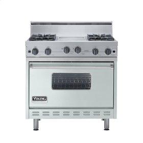 """Sea Glass 36"""" Open Burner Range - VGIC (36"""" wide, four burners 12"""" wide griddle/simmer plate)"""