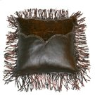 Leather Pillow W/Twisted Fringe Product Image