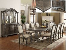 Kiera Dining Table, 4 Side Chairs & 2 Arm Chairs