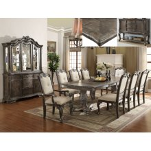 Kiera Dining Room Set: Table, 4 Side Chairs, 2 Arm Chairs & China Hutch