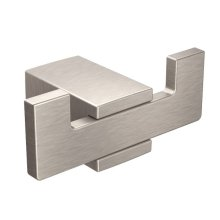 Kyvos brushed nickel double robe hook