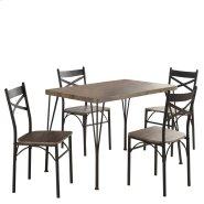 Tiago 5Pk Dining Set in Rustic Oak Product Image