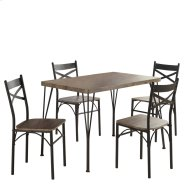 Tiago 5Pk Dining Set in Rustic Oak Product Image