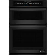 "Black Floating Glass 30"" Microwave/Wall Oven with V2 Vertical Dual-Fan Convection System"