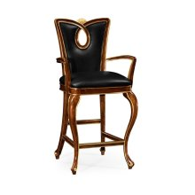 Mahogany Brown Barstool (Arm)