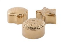 Petra Gold Ceramic Shell Boxes - Ast 3