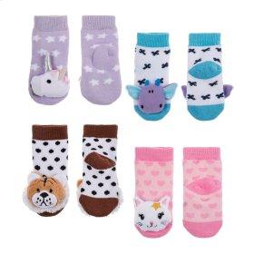 12 pr. ppk. Baby Rattle Socks