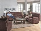 Lay Flat Reclining Console Loveseat w/Strg & Cupholders - Chestnut Product Image