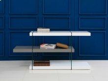 The Il Vetro High Gloss White/gray Lacquer Bookcase