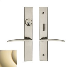 Lifetime Polished Brass Santa Monica Entrance Trim