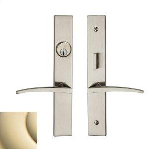 Lifetime Polished Brass Santa Monica Entrance Trim Product Image