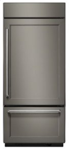 """20.9 Cu. Ft. 36"""" Width Built-In Panel Ready Bottom Mount Refrigerator with Platinum Interior Design Product Image"""