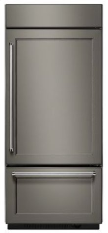 "20.9 Cu. Ft. 36"" Width Built-In Panel Ready Bottom Mount Refrigerator with Platinum Interior Design"