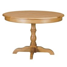 "Custom Dining 44"" Pedestal Table"