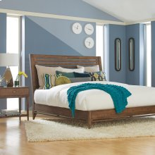 Queen/Textured Ash City Center Sleigh Bed