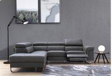 Divani Casa Chaz Modern Grey Leather Sectional Sofa w/ Recliner