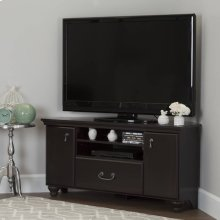 Corner TV Stand - Fits TVs Up to 55'' Wide - Dark Mahogany