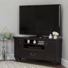 Corner TV Stand - Fits TVs Up to 55'' Wide - Dark Mahogany