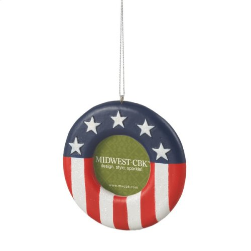 Red, White, and Blue 1 1/2 x 1 1/2 Photo Frame Ornament