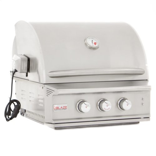 Blaze Professional 27-Inch 2 Burner Built-In Gas Grill With Rear Infrared Burner, With Fuel Type - Natural Gas