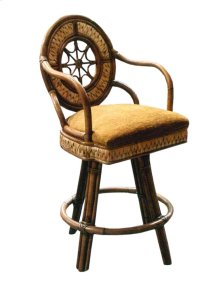 24'' Bar Stool, Available in Abaca or Seagrass Finish.