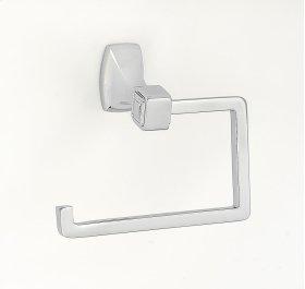 Cube Single Post Tissue Holder A6566 - Polished Chrome
