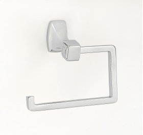 Cube Single Post Tissue Holder A6566 - Polished Chrome