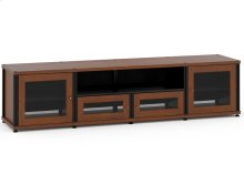 Synergy Solution 245, Quad-Width AV Cabinet, Cherry with Black Posts