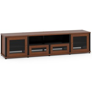 Salamander DesignsSynergy Solution 245, Quad-Width AV Cabinet, Cherry with Black Posts