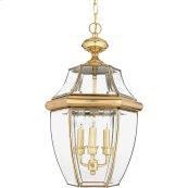 Newbury Outdoor Lantern in Polished Brass