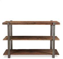 Console Table Patina Wood/Black Metal finish