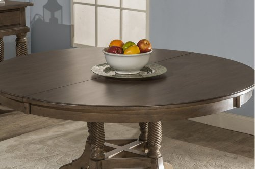 Wilshire Round Extension Dining Table - Ash Gray
