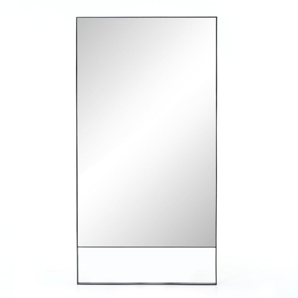 Black Silver Steel Finish Luna Mirror