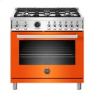 "36"" Professional Series range - Electric self clean oven - 6 brass burners Product Image"