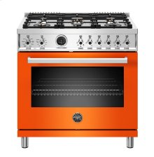 "36"" Professional Series range - Electric self clean oven - 6 brass burners"