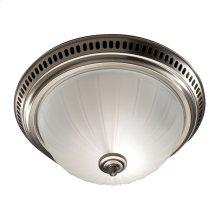 Decorative Fan/Light, Satin Nickel, Glass Globe, 70 CFM