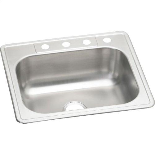 "Elkay Stainless Steel 25"" x 22"" x 8-1/8"", Single Bowl Drop-in Sink"
