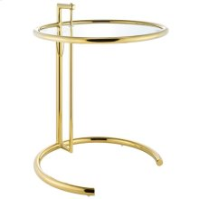 Eileen Gold Stainless Steel End Table in Gold