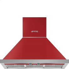 "30"" Portofino Chimney Hood, Red"