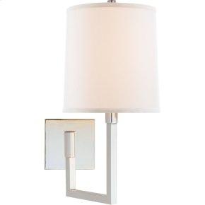Visual Comfort BBL2028SS-L Barbara Barry Aspect 11 inch 75 watt Soft Silver Swing-Arm Wall Light