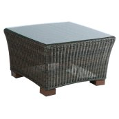 "Maddalena 28"" Square Coffee Table w/ glass top"