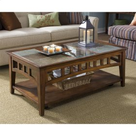 Andorra - Coffee Table - Eden Burnished Cherry Finish