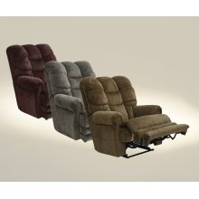 "Power ""Lay Flat"" Recliner w/Ext Otto - Vino"