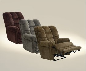 """Lay Flat"" Recliner w/Ext Otto - Slate"