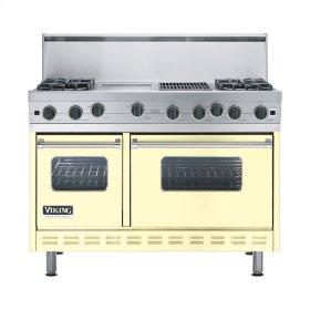 """Lemonade 48"""" Open Burner Range - VGIC (48"""" wide, four burners 12"""" wide griddle/simmer plate 12"""" wide char-grill)"""