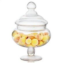 Mini Peaches In Glass Apothecary Jar