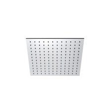 "INOX stainless steel 11 3/4"" square shower head, Satin finish"